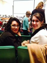 Mercedes Castillo and Teaching Artist Amanda Lowe at the Des Moines Symphony concert