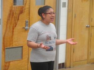 Leslie singing