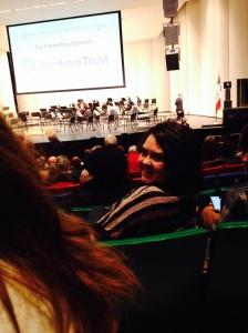 Rose Rocha-Crandell at the Des Moines Symphony concert