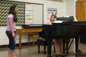Shauna and piano