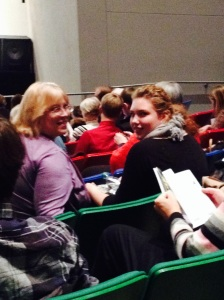 Zoe and Deb Hike at the Des Moines Symphony concert